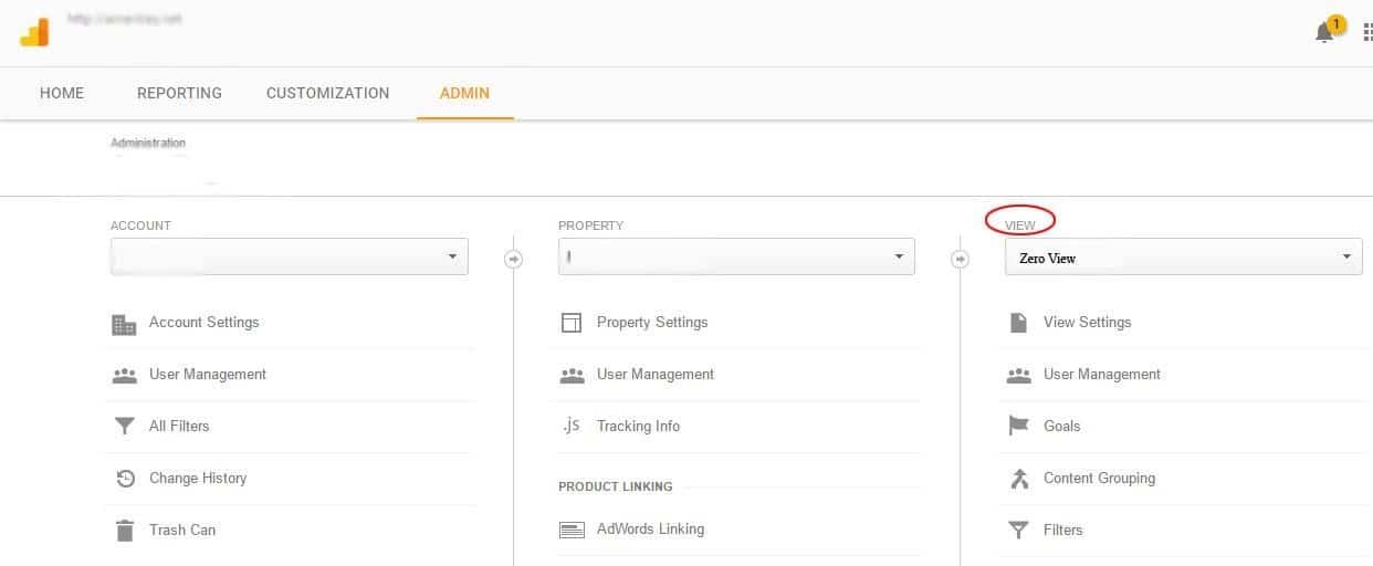 google analytics view
