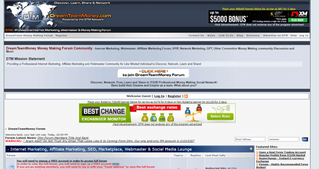 DreamTeamMoney Forum Home Page
