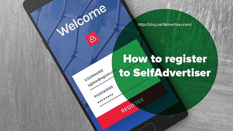 How To Register To SelfAdvertiser header